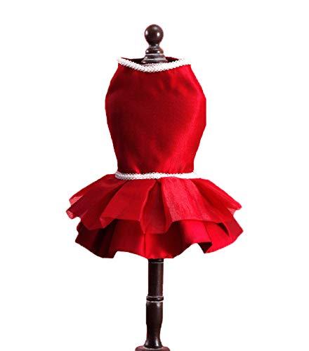 LBX Haustier Abendkleid Hochzeitskleid Rot Gestrickte Polyester Material Mehrere Größen Langlebig...
