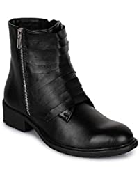 Bruno Manetti Women Faux Leather Black Boots