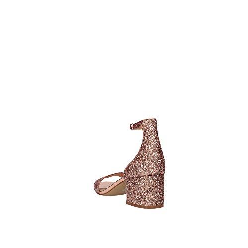 Steve Madden Irenee tacco del sandalo ORO ROSA