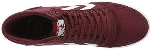Hummel - Slimmer Stadil, Scarpe da ginnastica Unisex – Adulto Rosso (Cabernet)