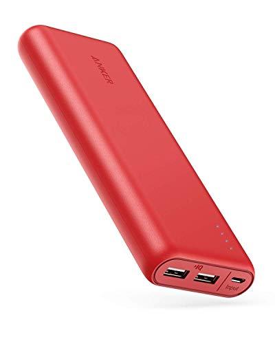 Anker PowerCore 20100-20000mAh Cargador portatil de Ultra Alta Capacidad con Potente Salida 4.8A, tecnología PowerIQ para iPhone, iPad y Samsung Galaxy y más (Rojo)