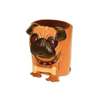Carlin Cuir véritable Porte-lunettes de soleil pour chien/animaux/support **VANCA main au Japon