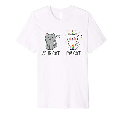 Einhorn Cat T-Shirt Ihrer Katze My Cat Magic Caticorn Shirt