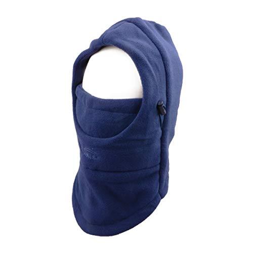 TRIWONDER Balaclava Hood Hat Thermische Fleece Gesichtsmaske Halswärmer Full Face Abdeckkappe Winter Ski Maske (Marineblau-Verdicken)
