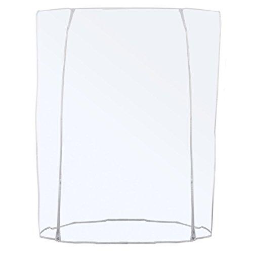 Transparente Abdeckhaube für Konfektionsständer - Doppel-Reißverschluss Länge 120/150/180cm (150cm)