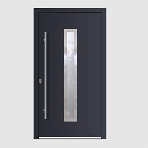 Haustür Welthaus WH94 RC2 Premiumtür Aluminium mit Kunststoff LA211 Tür nach mass gemacht Farbe aussen anthrazit Innen weiß außengriff BGR1400 innendrucker M45 Zylinder 5 Schlüßel