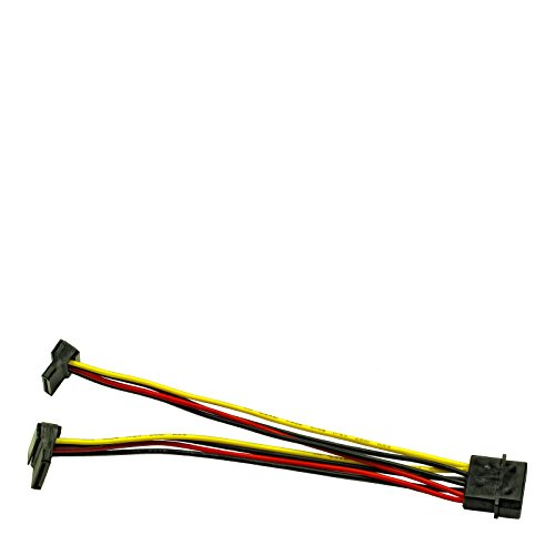 Inter-Tech 88885307 AC Adapter 1x Molex auf 2X SATA Power 90°, 0.15m - Power-line-netzwerk-extender