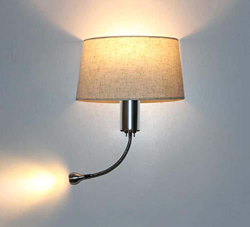 GJX lámpara de Pared de Metal Cromado Brillante, lámpara de Pared con...