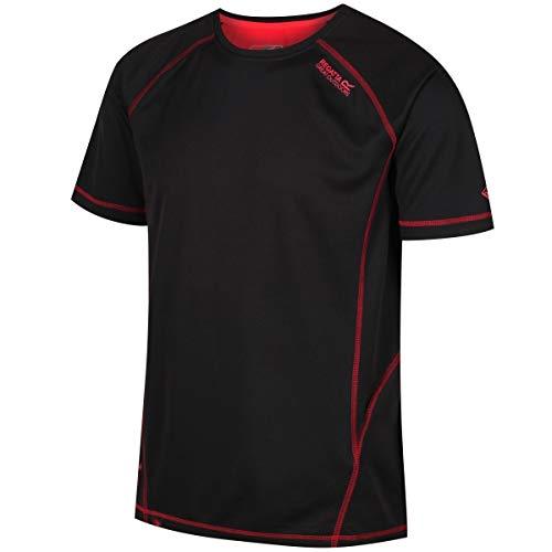Von Amts Wegen Schwarzen T-shirt (Regatta Virda II T-Shirt Men Black/Pepper Größe L 2018 Kurzarmshirt)
