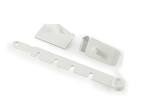 Gardinia Tope para Kipp Ventana, plástico, Blanco, 10x 4x 1cm
