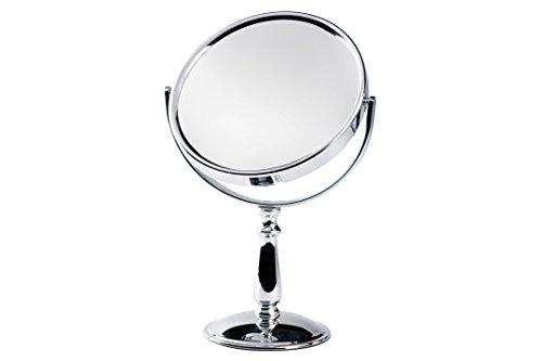 Novex 64304A Miroir sur Pied Double Face, Acier Inoxydable, Chrome Argent, 31 x 19,5 x 11,5 cm