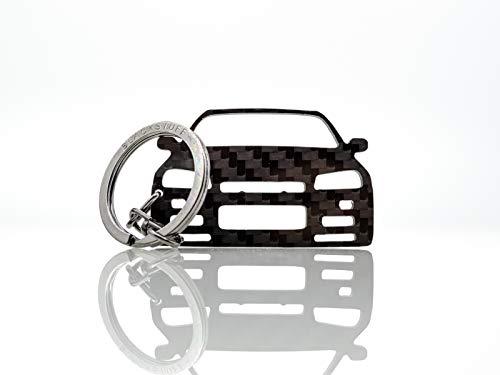BlackStuff Carbon Karbonfaser Schlüsselanhänger Kompatibel mit Skyline R34 GT-R BS-655