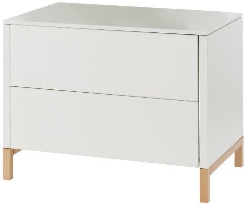 Preisvergleich Produktbild Herlag H1924-0001 Kommode Alex, 100 x 98 x 77 cm, weiß / natur