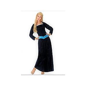 Atosa- Disfraz Dama Medieval, Color Negro, M-L (5034)