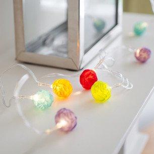 10er Led Ball Lichterkette Bunt Rosen Lichterkette Batteriebetrieben von Lights4fun