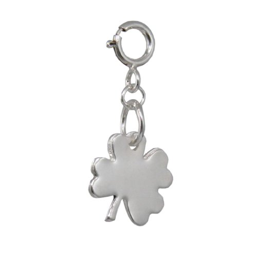 Silver 4 Leaf Clover Charm | Handmade Designer 925 Sterling | FREE Delivery in UK Gift Wrapped Gifts