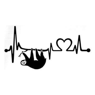 Sloth Geschlagenes Herz Geschnitzt Dekorative Wandaufkleber 30X60Cm - Geschlagen Herz