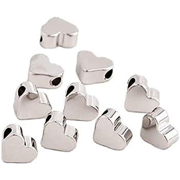 - 4 x 5 mm Sadingo Metallperlen mit Loch Zwischenperlen Armband 10 Stk