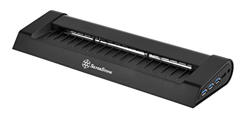 SilverStone SST-NB05B - Noble Breeze Notebook-Kühler mit 3x USB 3.0 SuperSpeed-Anschlüssen und 290 mm-Querstromlüfter für Notebooks und Computer mit einer Größe bis zu 17 Zoll, schwarz