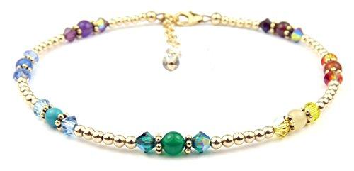 damali-7-chakra-stone-14ct-gold-filled-genuine-gemstone-balancing-healing-crystal-anklet-85-in