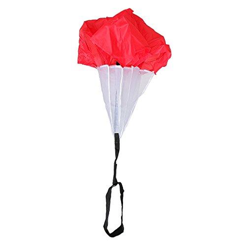 Sharplace Outdoor Fitness Training Übungen Fallschirm Regenschirm Sprinttraining Bremsschirm Krafttraining Leichtathletik Teamsportbedarf Kinder Spielzeug - Rot