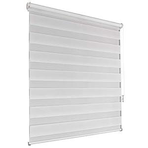 Doppelrollo 130x160cm Weiss Klemmfix Ohne Bohren Vario Seitenzug Duorollo Zebrarollo Fenster