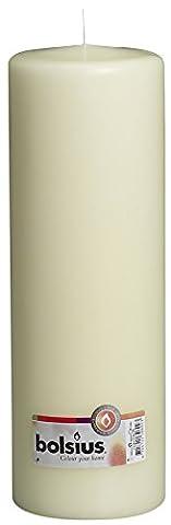 Bolsius bougie pilier Bougies et cadeau, ivoire,