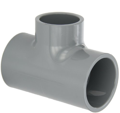 GF Piping Systems CPVC Pipe Fitting, Reducing Tee, Schedule 80, Gray, 2 x 2 x 1-1/2 Slip Socket by GF Piping Systems - 80 Cpvc Tee