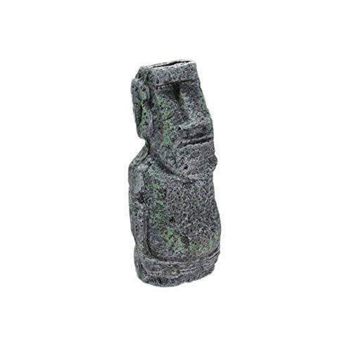 Balai Resin Ancient Easter Island Moai Monolith Statue für Aquarium, Aquarium Dekorationen, Desktop Ornamente (Easter Island Aquarium)