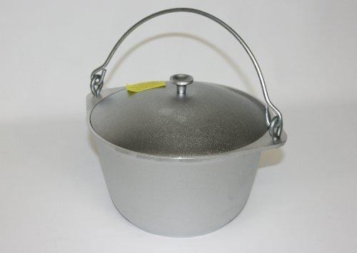 Cast aluminum, goulash kettle with handle, Kazan Tatarsky 3 liter, Kazan, Asia Wok and lid