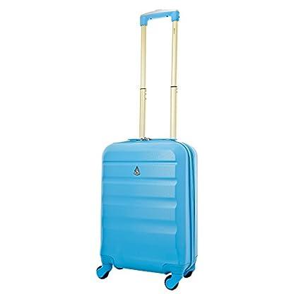 Aerolite ABS 55x35x20cm 33L Maleta Rígida Ligera Equipaje De Mano Con 4 Ruedas + 35x20x20cm Bolsa Segundo Ryanair Tamaño Máximo,