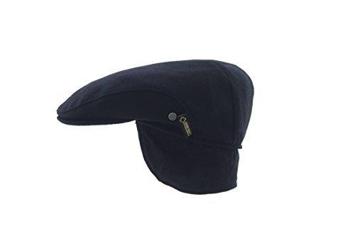 Hut Breiter Large - Goretex Uni Protection d'oreille Bonnet pour homme avec doublure intérieure Marine - Bleu -