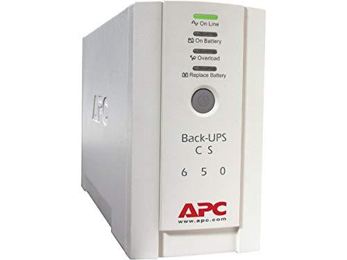 APC Back-UPS CS - BK650EI - Unterbrechungsfreie Stromversorg 650VA (4 Ausgänge IEC, Überspannungsschutz)