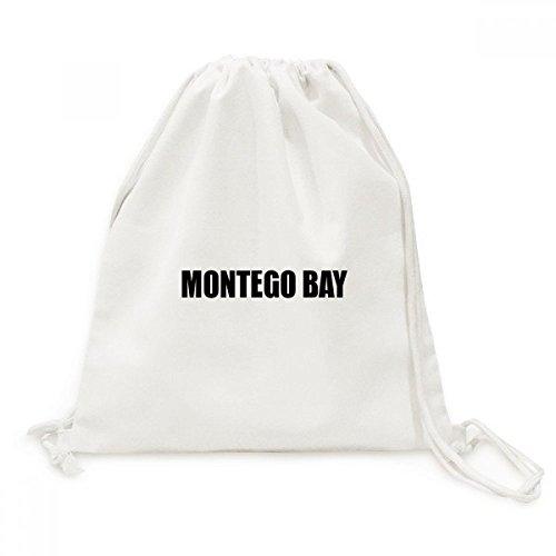 Jamaika Montego Bay (DIYthinker Montego Bay Jamaika Stadt Name Canvas-Rucksack-Reisen Shopping Bags)