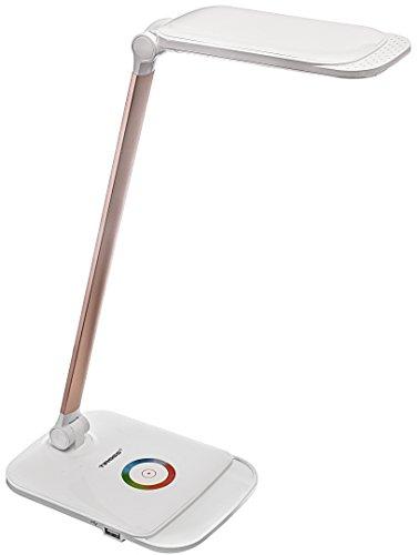 tiross ts1805-Lámpara de escritorio, 3modos de temperatura, Touch, 5niveles de intensidad, función de carga USB, 66LED (14W)