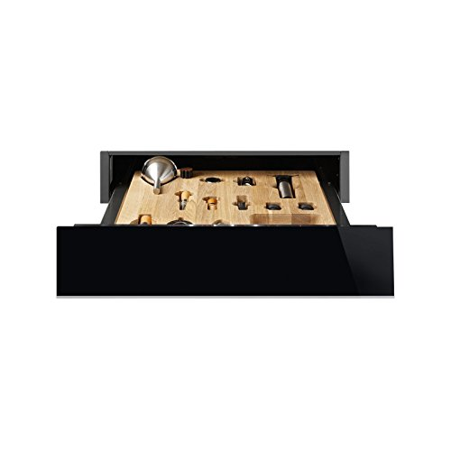 Smeg CTPS613NX Sommelier-Schublade Schwarzglas/Edelstahl für Weinkühlschrank
