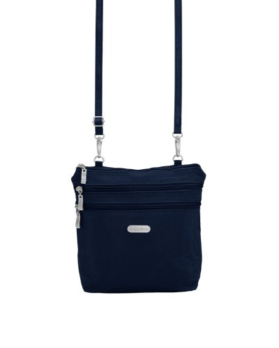 Baggallini Zipper Bag Borsa Messenger, Nero (Black) Navy