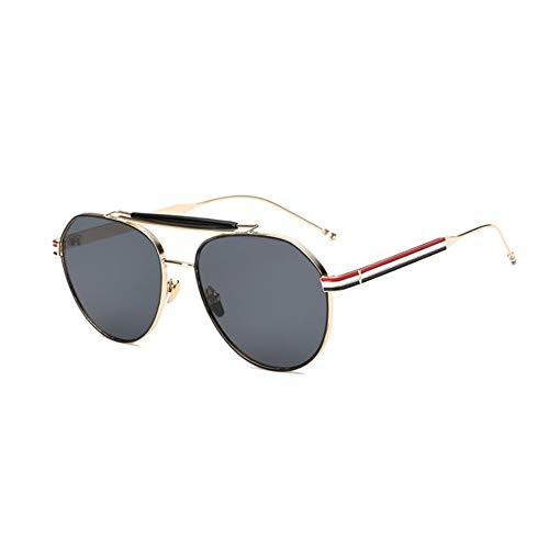 Thirteen Sonnenbrille Weiblich, Großes Gestell Gesicht Kleines Gesicht Retro Brille, Verwendet Für Anti-UV-Sonnenschutz Dekoration Reisen. (Color : A)
