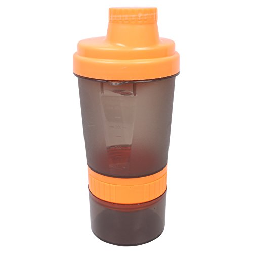 Adrian Fiber And Glass Sports Protein Shaker Bottle, 400 Ml (Blue And Green)