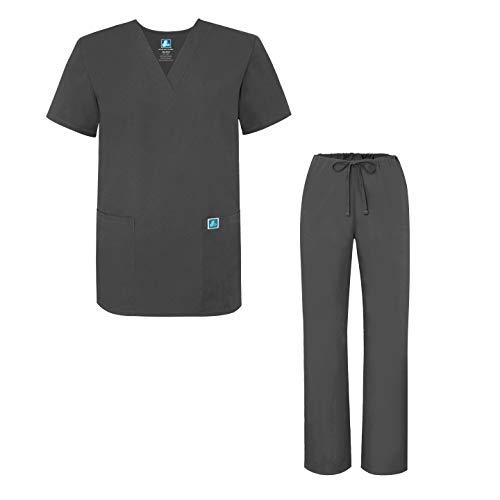 Adar Universal Medical Scrubs Set Medical Uniforms - Unisex Fit - 701 - PWR -S - Scrubs Uniform Shirt