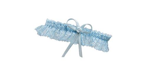 BrautChic Schmales ELEGANTES blaues Strumpfband für die Braut - HochzeitsstrumpfbandETWAS BLAUES -...