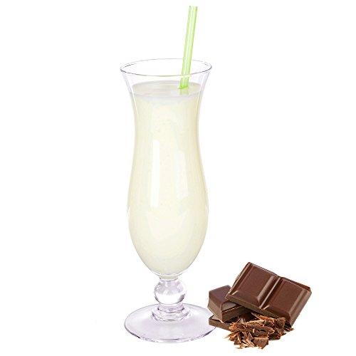 Stracciatella Geschmack Eiweißpulver Milch Proteinpulver Whey Protein Eiweiß L-Carnitin angereichert Eiweißkonzentrat für Proteinshakes Eiweißshakes Aspartamfrei (1 kg)