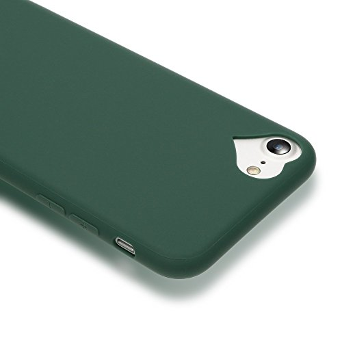 iPhone 8 / 7 Coeur Coque Silicone de NICA, Ultra-Fine Housse Protection Cover Slim Premium Etui Résistante, Mince Telephone Portable Gel Case Bumper Souple pour Apple iPhone 7 / 8, Couleur:Jaune Vert