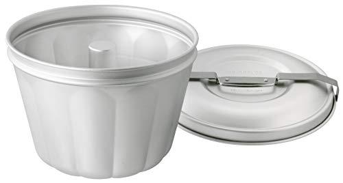 Dr. Oetker Wasserbadform Aluminium Ø 21 cm, Backform für Gugelhupf aus Stahlblech, Puddingform für eindrucksvolle Kreationen, hochwertige Backform (Füllvolumen: 2,5 Liter), Menge: 1 Stück