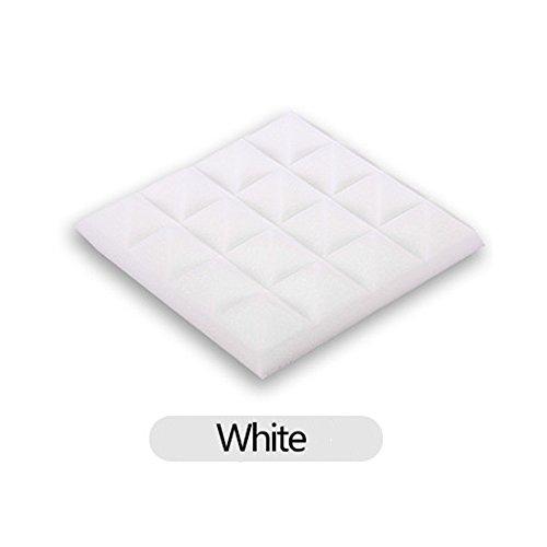 YA-Uzeun Schallschutzmatte Schwamm Wandmatte, weiß