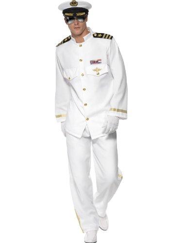 Karneval Herren Kostüm Schiff Kapitän Marine Deluxe Uniform Größe L