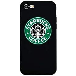 TN Cases Store Coque iPhone 6 6S Starbucks Coffee Noir et Vert Café Silicone Souple