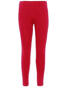 Mallas para niñas, diseño liso, algodón, elásticas, pierna completa