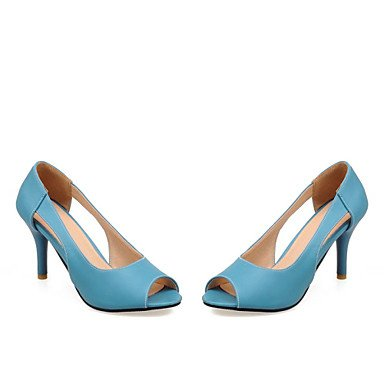 Zormey Women'S Shoes Stiletto Heel Peep Toe Pumps Kleid/Casual Blau/Gelb/Pink US9 / EU40 / UK7 / CN41