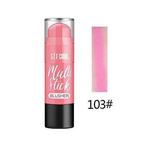 Lucoss Blush Stick Wasserdichtes Langanhaltendes Make-up-Effekt für weiche Make-up-Effekte -